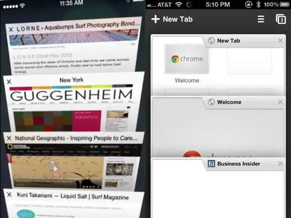 The new Safari web browser's 3D tabs looks great. It's faster than Google's Chrome browser too.