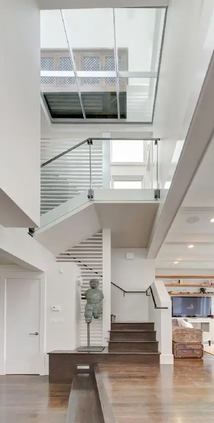 And an open floorplan that spans three floors.