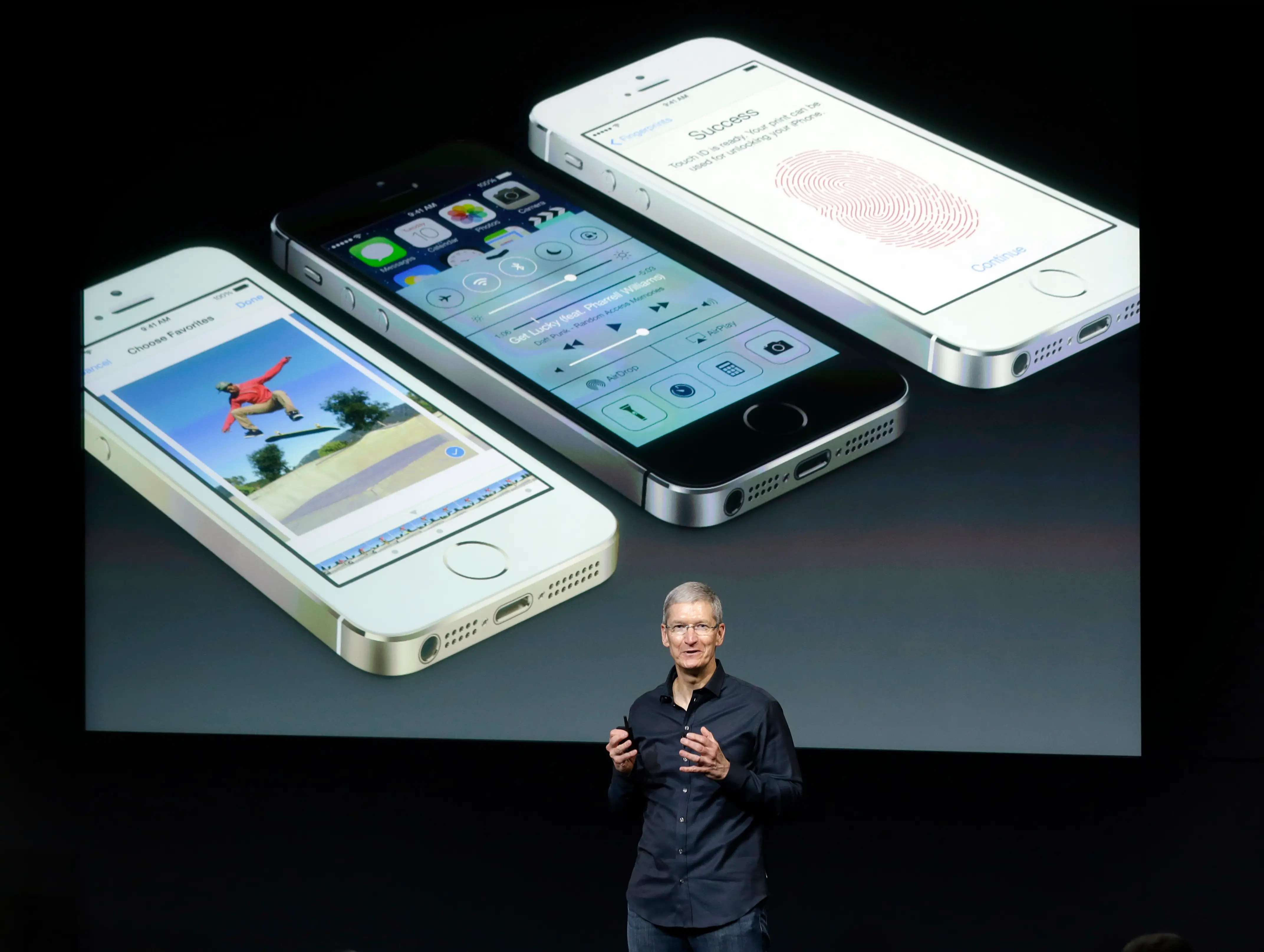 A week later, Tim Cook announced two new Apple phones: the iPhone 5C and 5S.