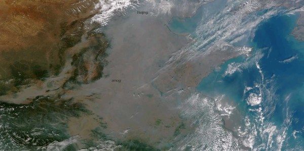 Satellite Of China' Smog - Business Insider