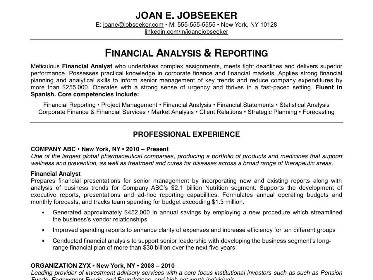 Corporate Resume Example  Examples Of Resumes