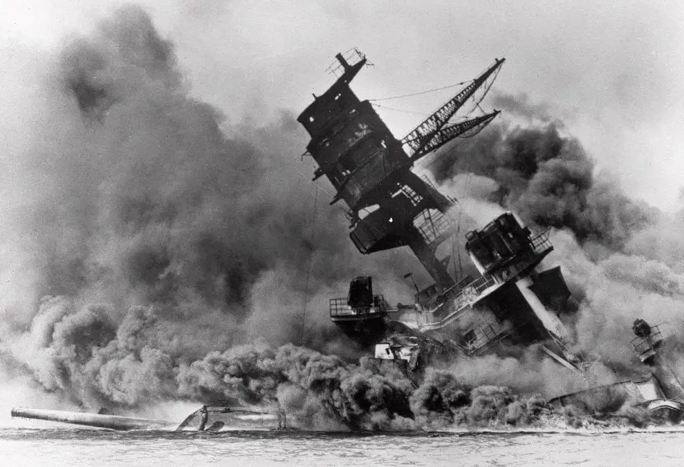 Here's another picture of the USS Arizona.