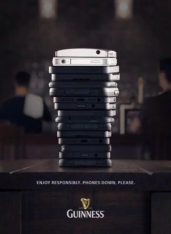 Guinness Ad Phones Down Please