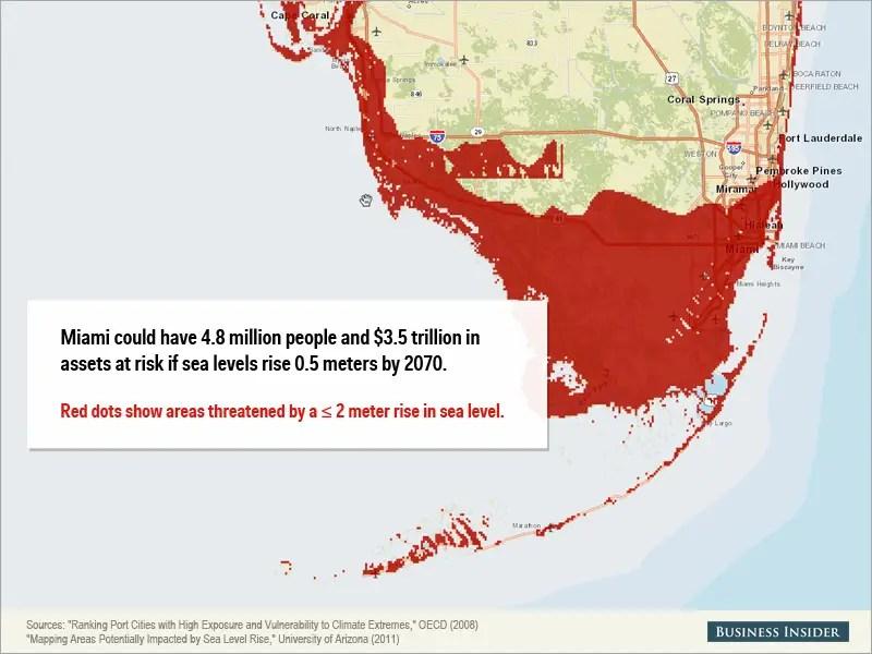 Miami Sea Level Rise Map