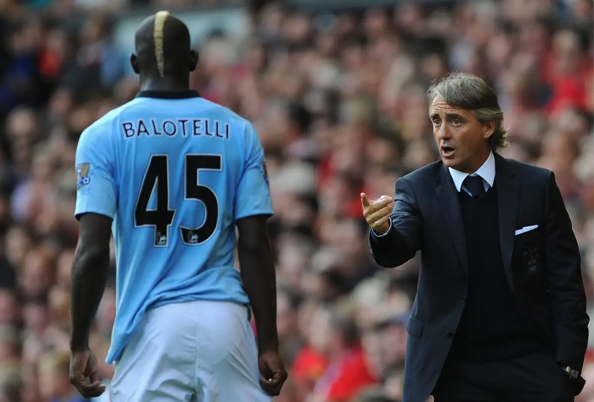He once got into a fist-fight with his own coach at Manchester City practice.