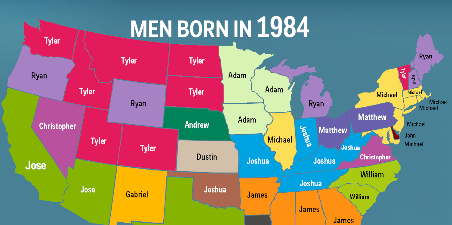 Names Men Born in 1984