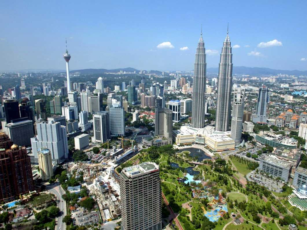 The capital has two of the tallest skyscrapers in the world