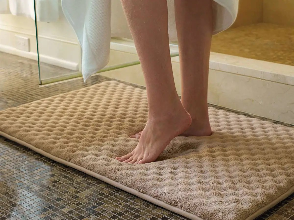 When getting out of the shower, you'll want a soft place to put your freshly washed feet. A memory foam bathmat is the perfect after-shower landing zone, and they come in all shapes and sizes.