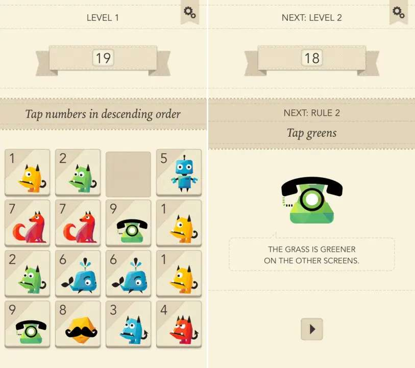 Rules! is a fast-paced puzzler.
