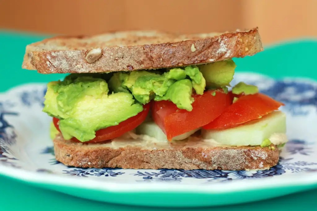 toast avocado tomato sandwich