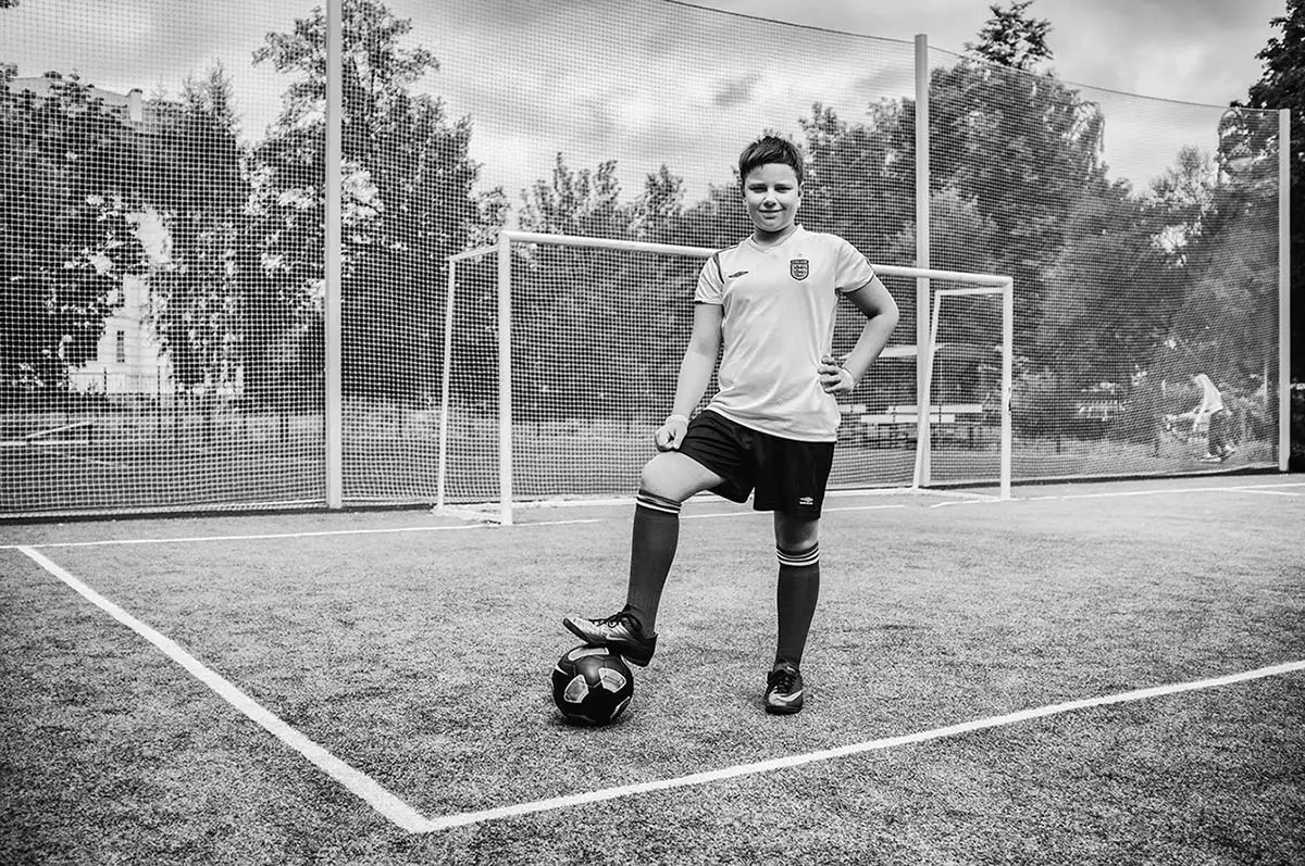 """Denis, age 12. Profession: Student. Passion or Dream: """"I love to play with yo-yo's, football, and radio-controlled cars."""""""
