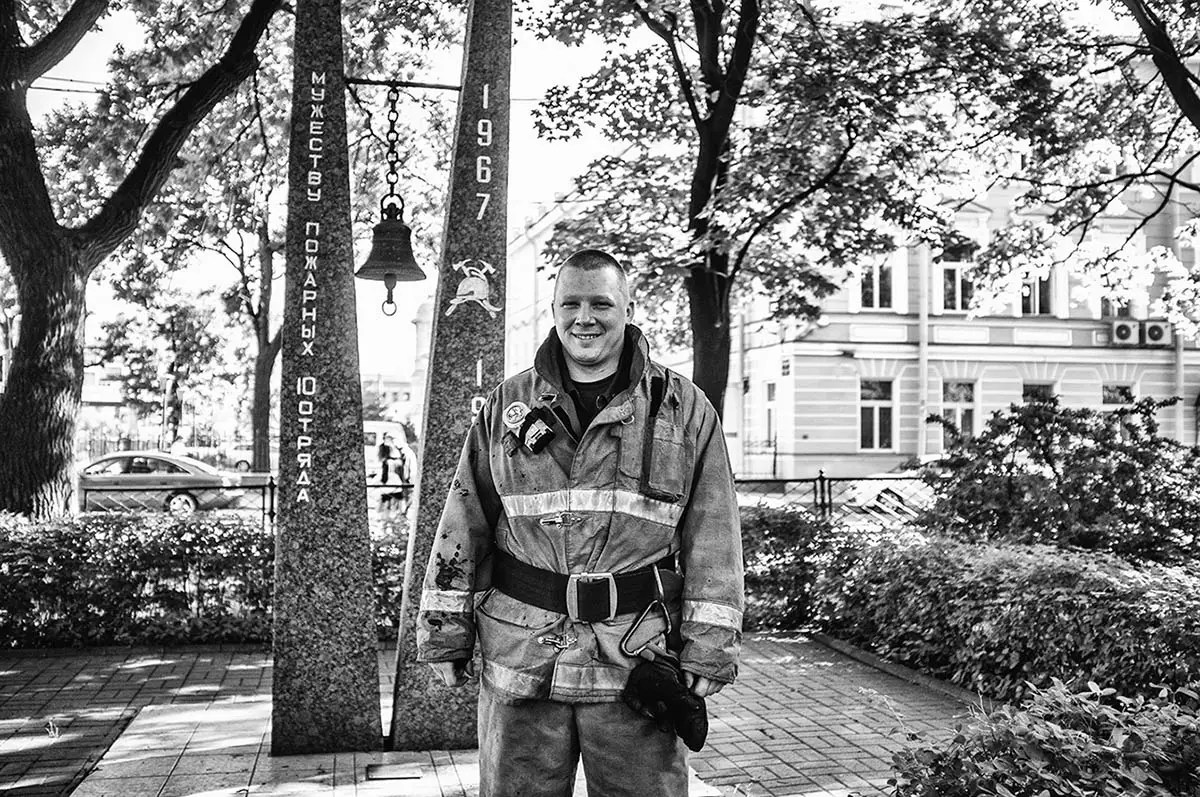 "Georgiy, age 33. Profession: Firefighter. Passion or Dream: ""I want to take a photo of a polar bear together with my daughter on the island of Spitzbergen."""