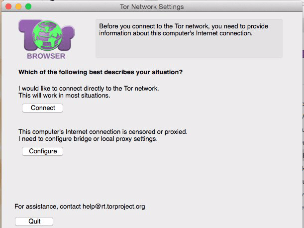 This pops up when you first download the Tor browser.