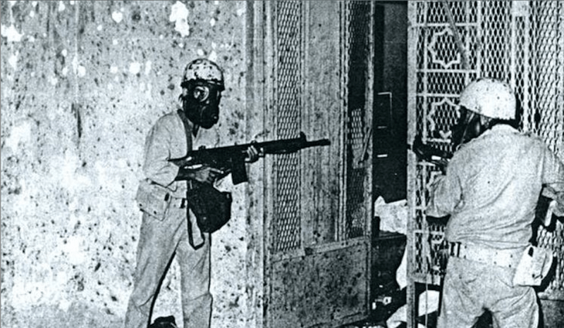 One of the most extraordinary episodes in the GIGN's history was the seizure of the Grand Mosque in Mecca in 1979. Because of the prohibition of non-Muslims entering the holy city, a team of three GIGN commandos briefly converted to Islam before helping the Saudi armed forces plan the recapture of the mosque.
