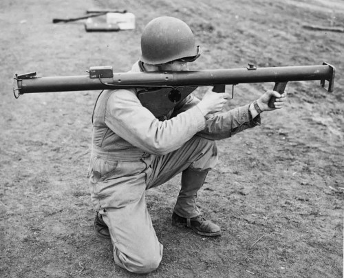 world war II bazooka soldier army signal corps rocket launcher