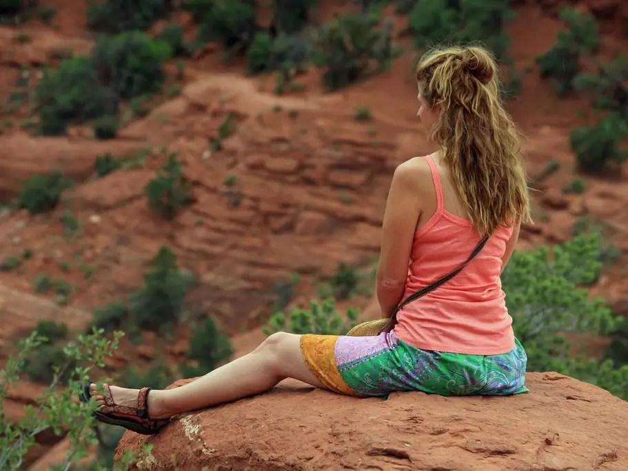 meditating view desert