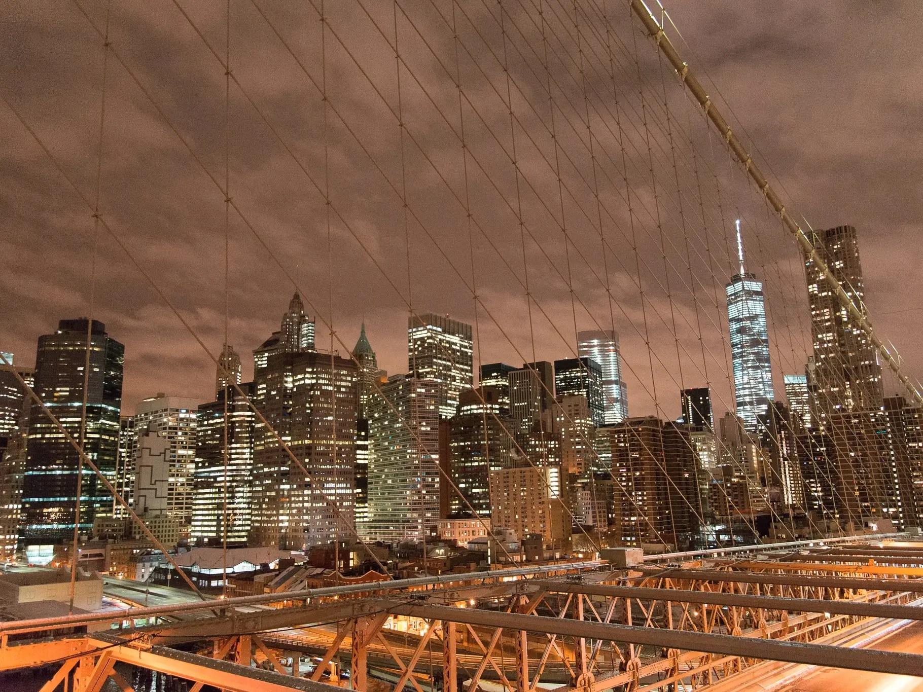 new york skyline manhattan brooklyn bridge