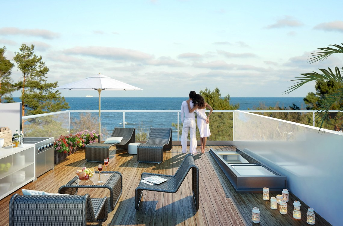 And all beach-facing units will give residents sweeping views of the Baltic Sea.