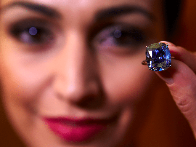 Coloured Diamonds — Precious gems are always a favourite with the wealthy but coloured diamonds have become particularly fashionable over the last decade, with prices ballooning by 67%. According to Forbes, the world's most expensive diamond ever sold is the Wittelsbach-Graff diamond. It went for $80 million in 2011.