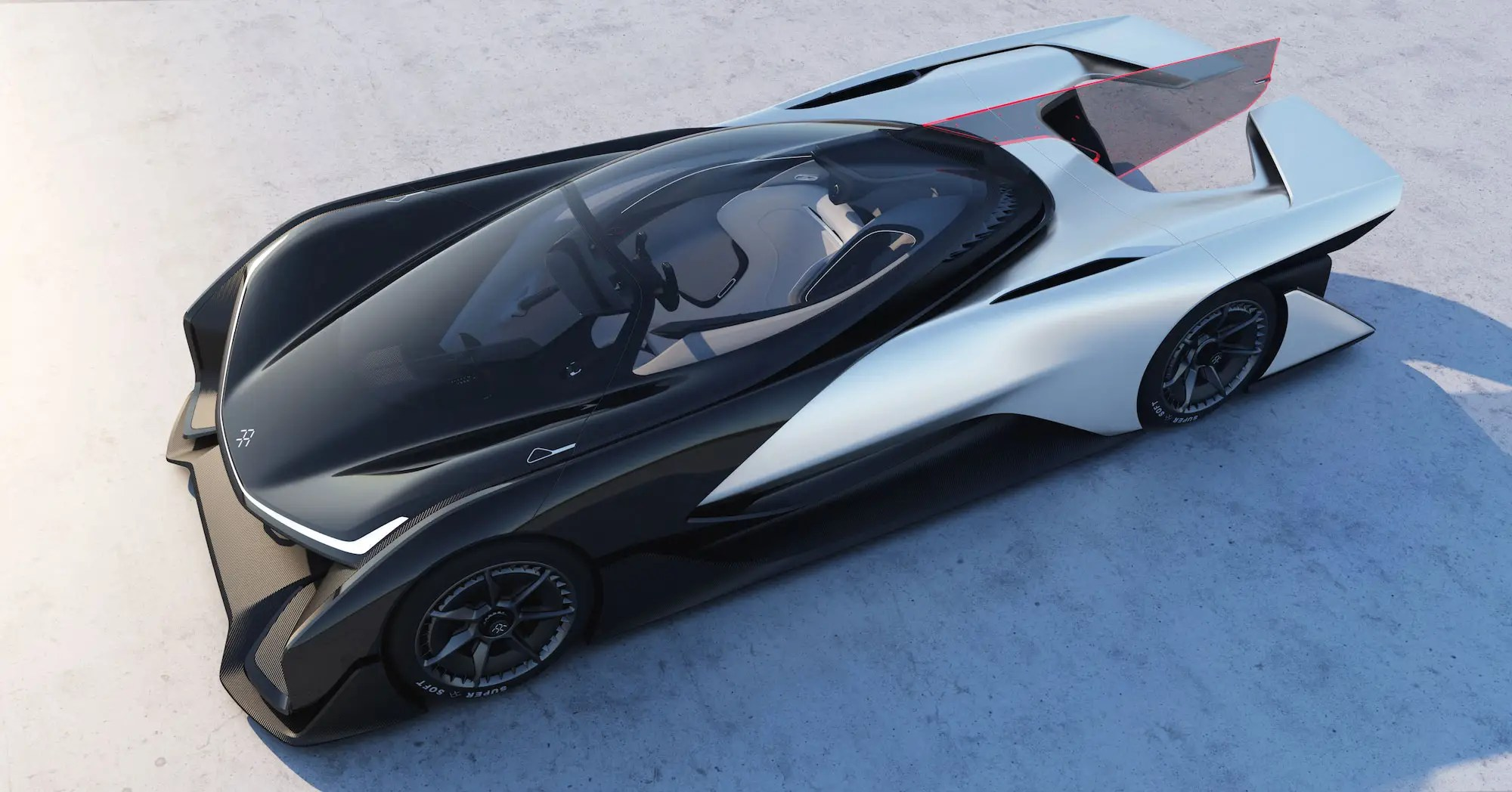 2. The big unveiling to come out of the Consumer Electronics Show was Faraday Future's concept car, the FFZERO1.