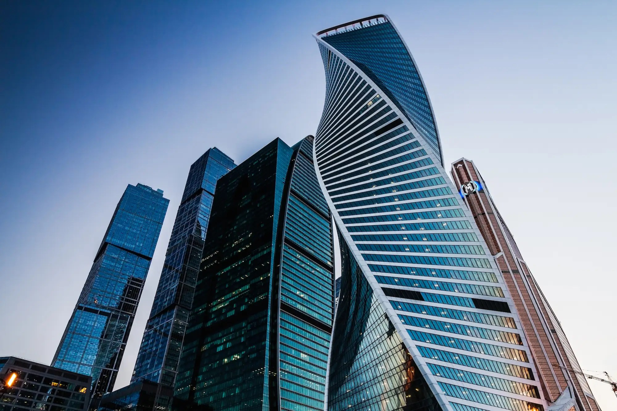 59. The Evolution Tower in Moscow looks like two ribbons twisted round each other, reminiscent of the structure of DNA.