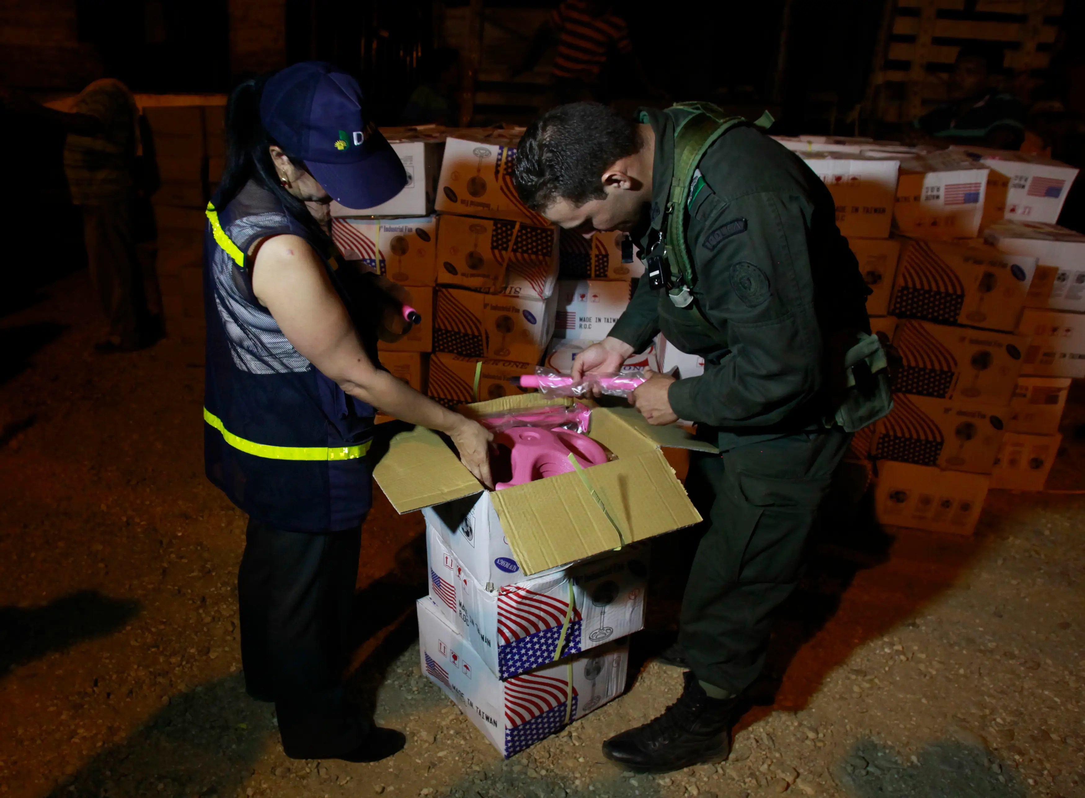 Colombia smuggling contraband port inspection