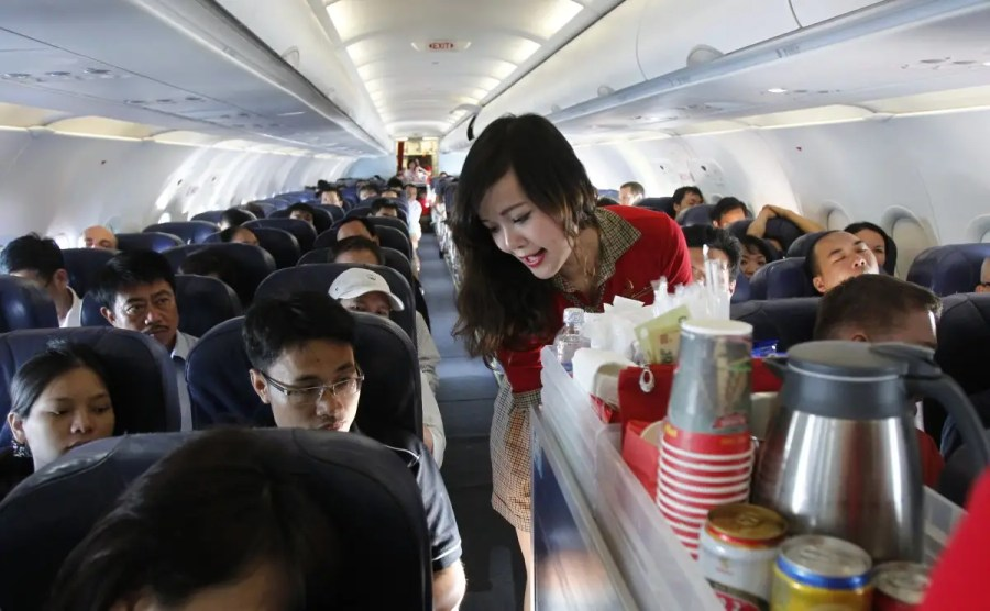 ask for the whole can of your drink order flight attendants will usually give it to you