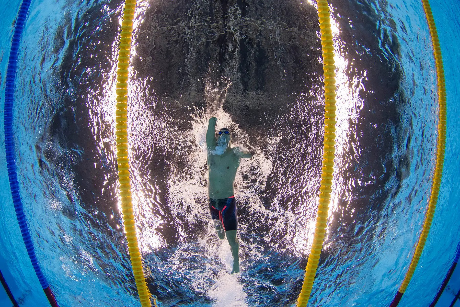Daniel Dias de Brasil compite en 200 metros estilo libre de los hombres.