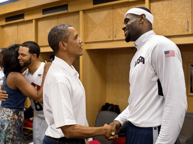obama lebron james