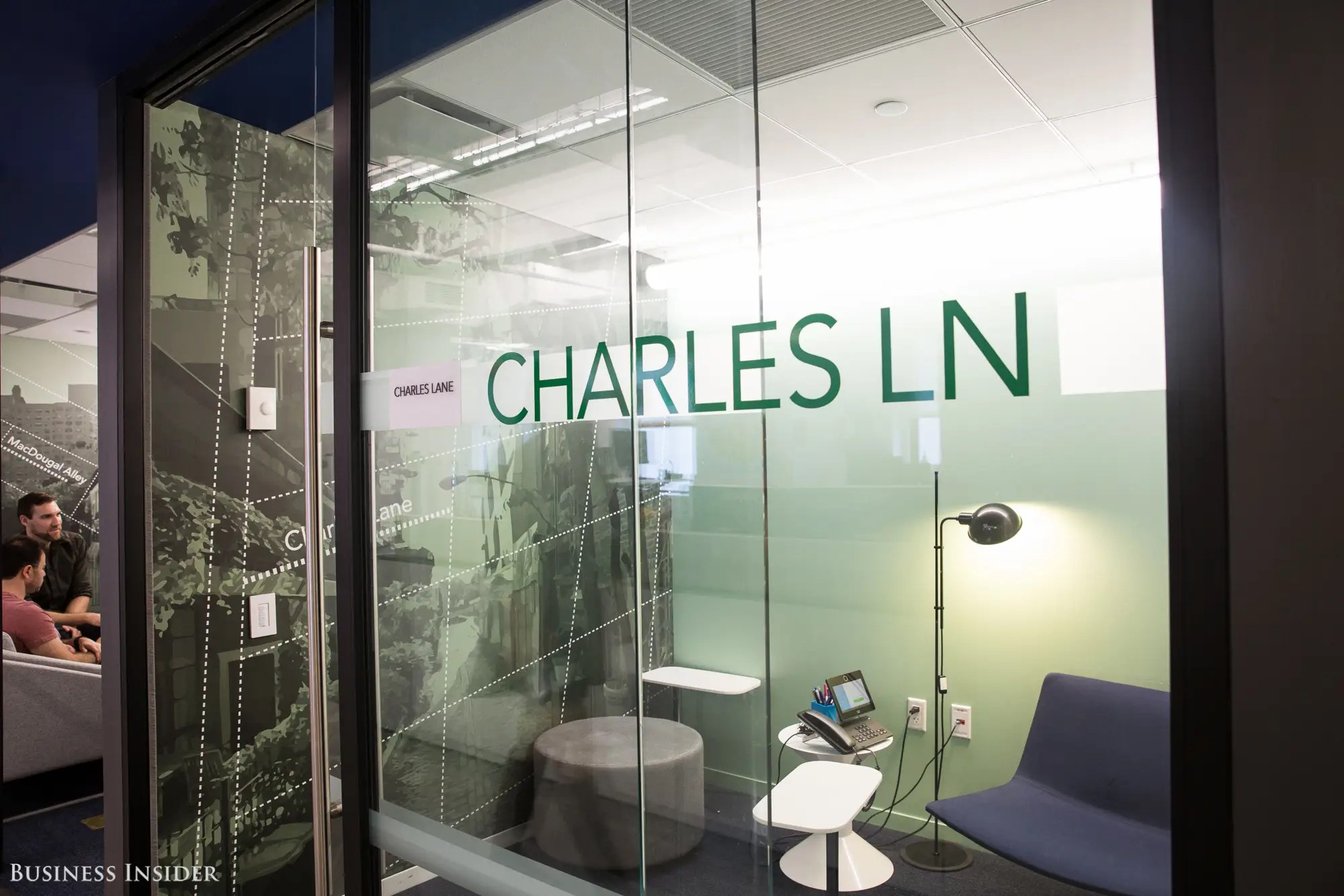 When it comes to conference room names, each floor has a different theme, including New York City street names and former SNL cast members.