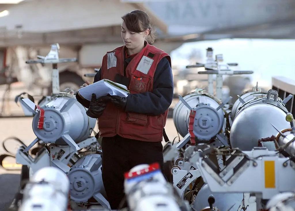 US Navy bomb farm aircraft carrier ordnance