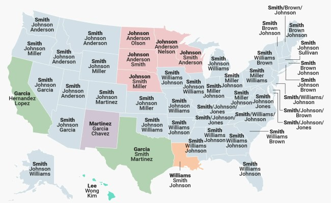 The Most Common Last Names In Every State Business Insider