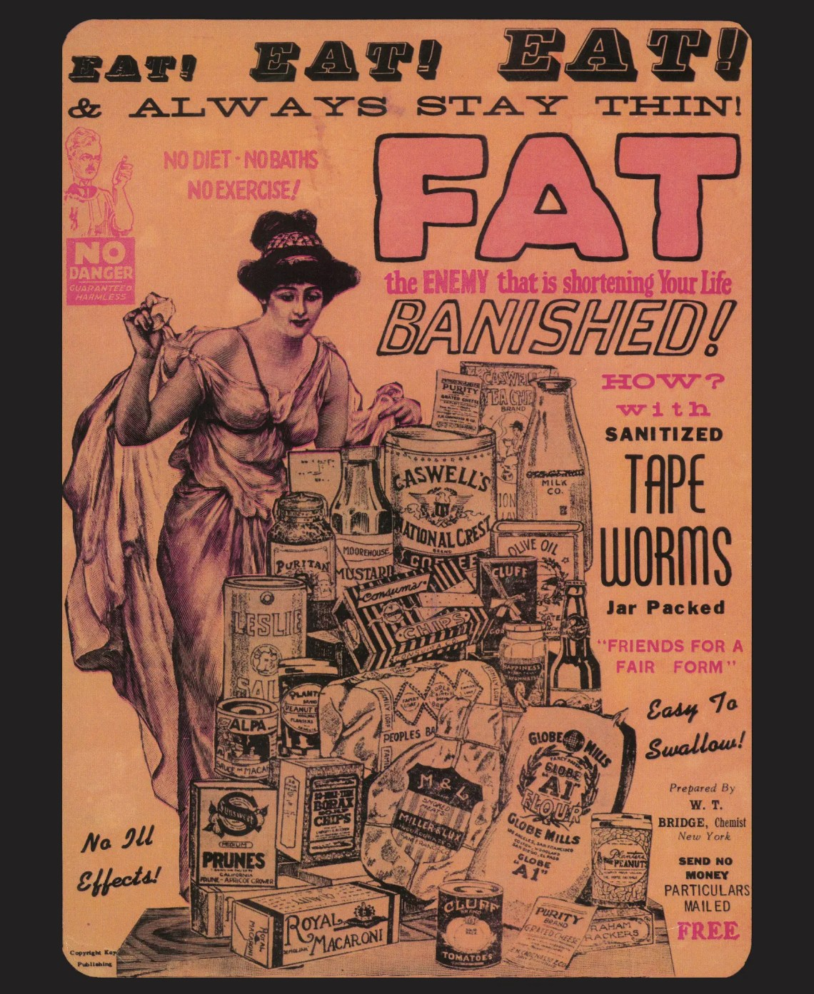 "This company sold ""easy to swallow"" tapeworms as a weight loss aid."