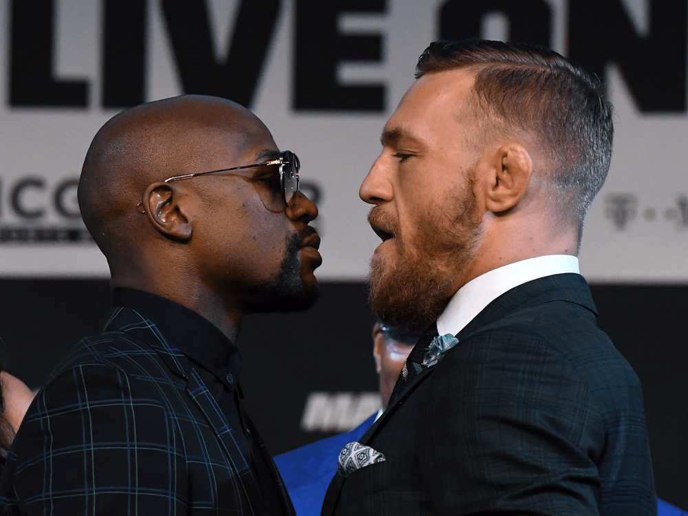 Image result for mayweather vs mcgregor fight