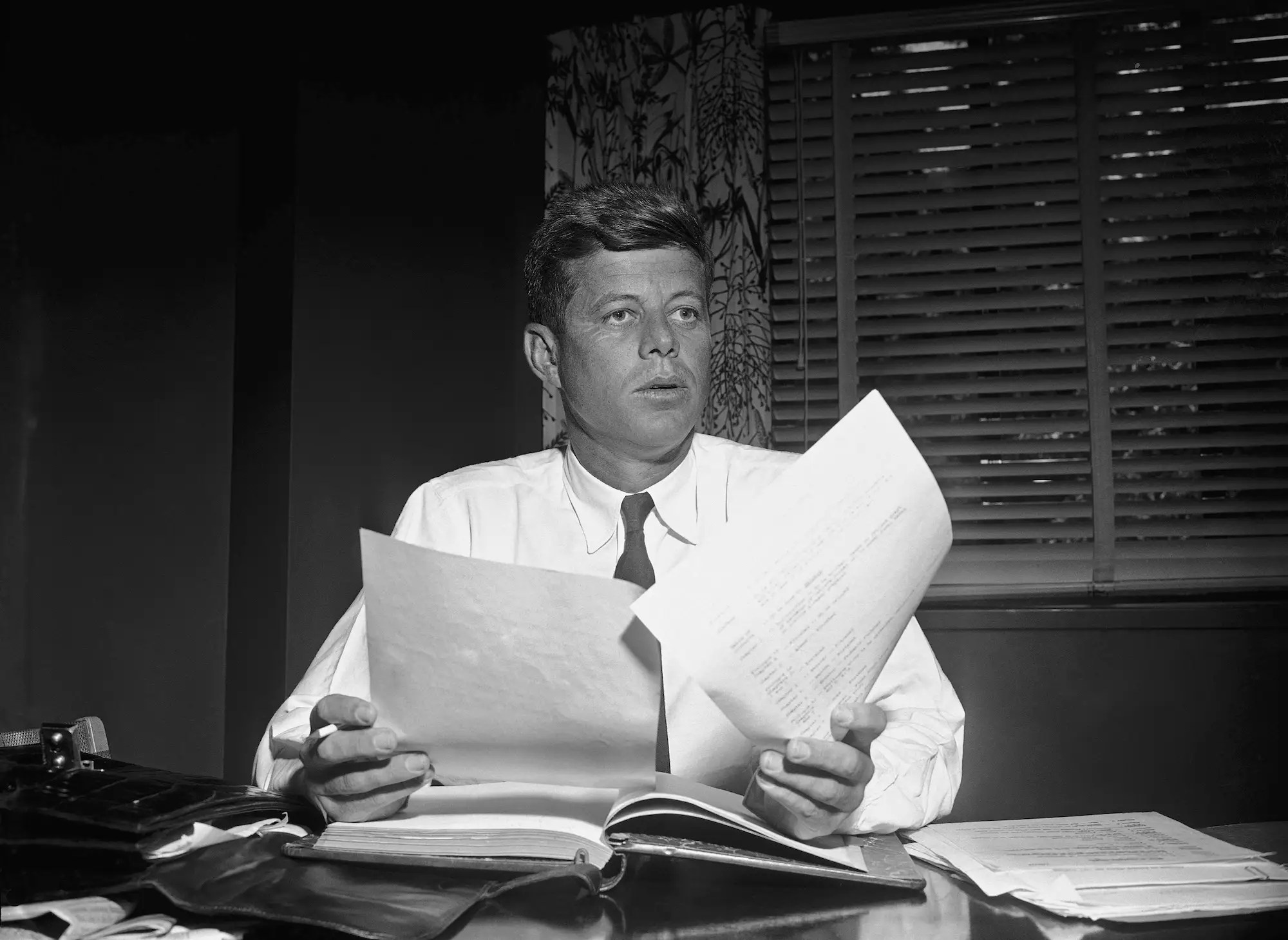 A 'high-priced Hollywood call girl' told the FBI that a private detective was looking into 'sex parties' involving Kennedy.