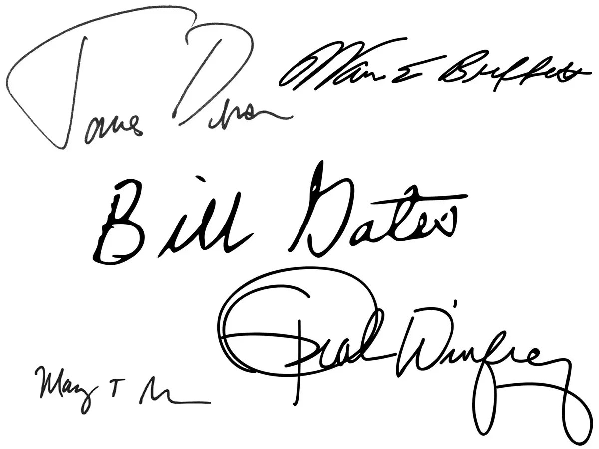 Here's what handwriting analysts say about the signatures