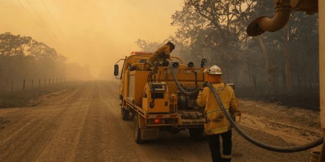 australia fire queensland heat wave