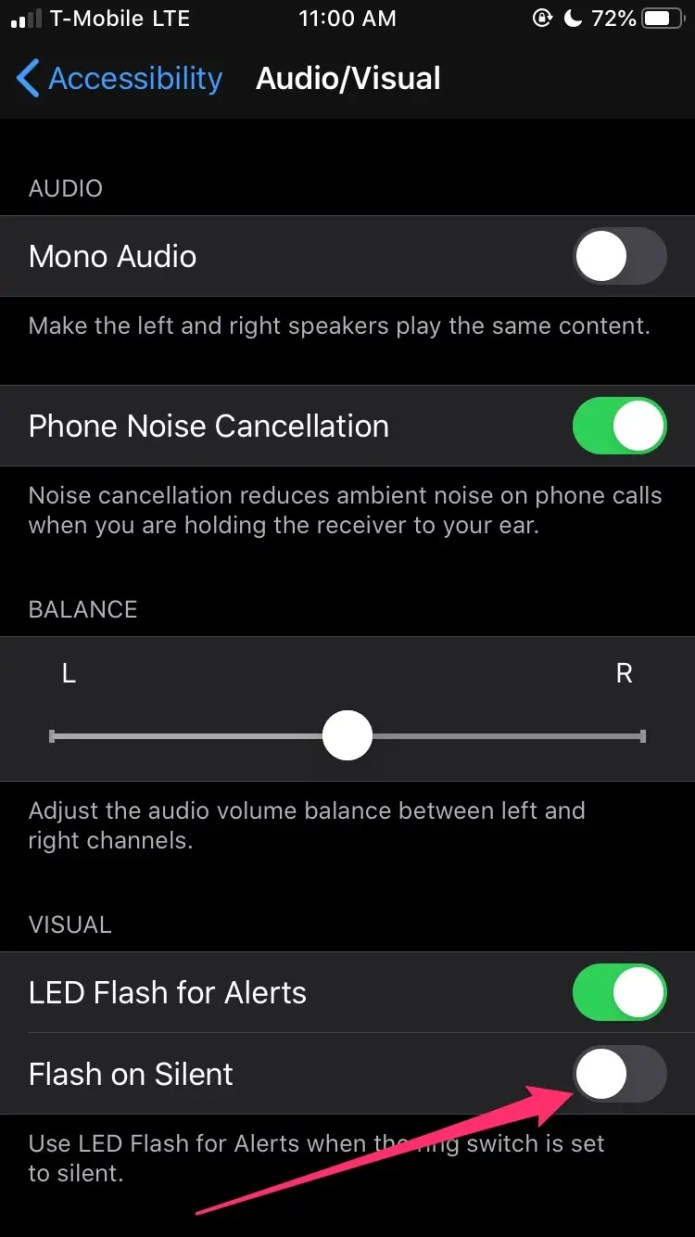 How to put flash notification on iPhone