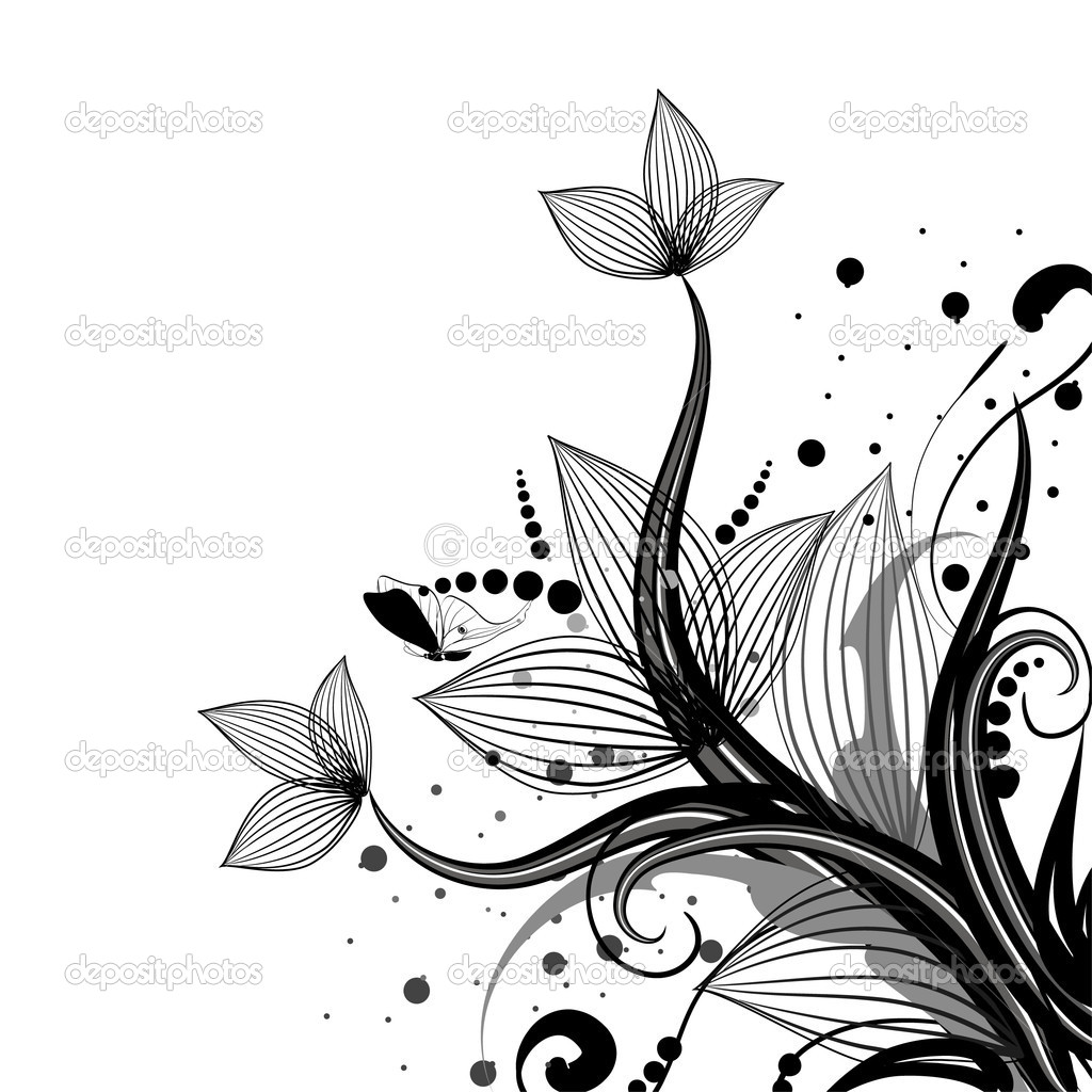 Flower corner — Stock Vector © Oksana #3218362