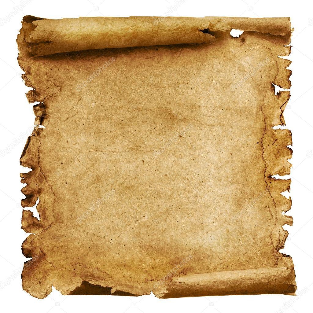 Pirate Parchment Scroll Template