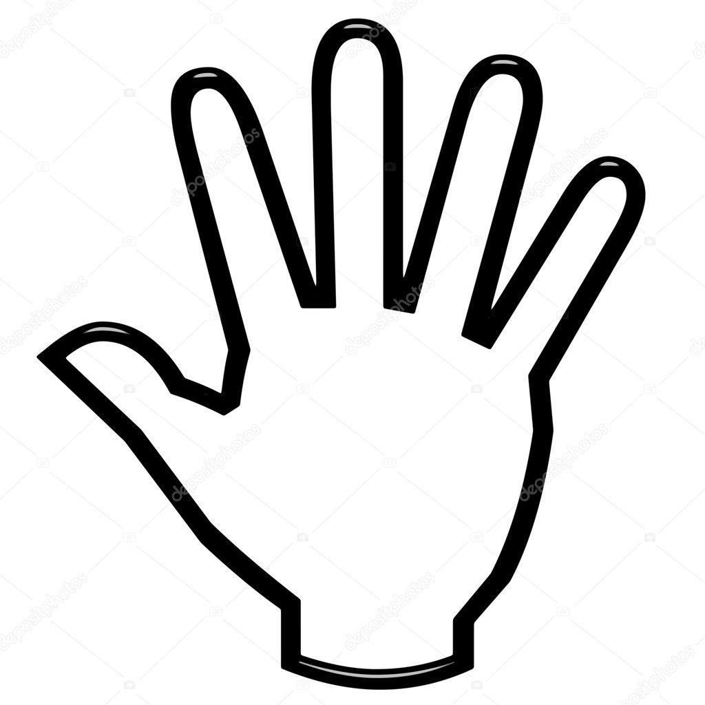 3D mão aberta — Fotografias de Stock © georgios #3533387