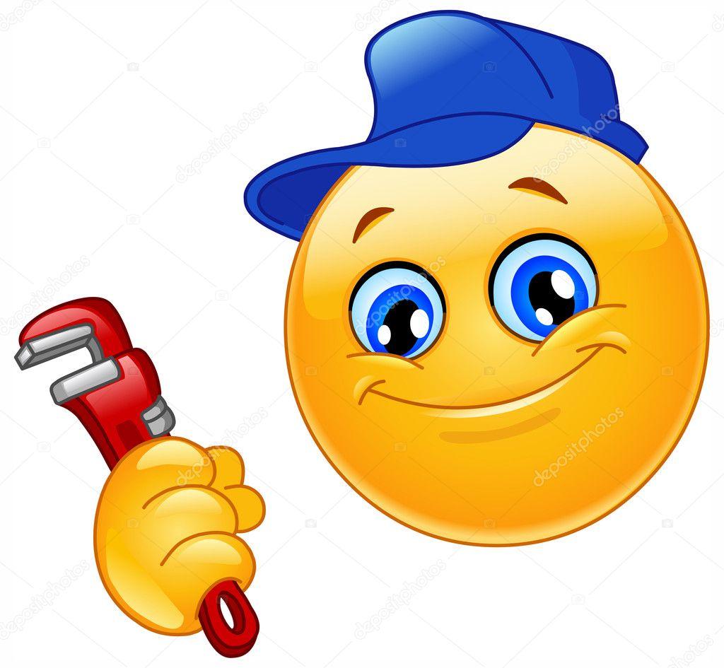 Plumbing Emoji Plumber Emoticon Stock Vector C Yayayoyo 3064560
