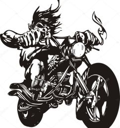 biker on motorcycle motorcycle harley tuned chromium vector by digital clipart [ 899 x 1024 Pixel ]