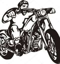 biker on motorcycle motorcycle harley tuned chromium vector by digital clipart [ 1024 x 975 Pixel ]