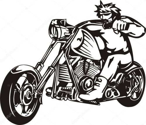 small resolution of biker on motorcycle motorcycle harley tuned chromium vector by digital clipart