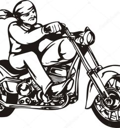 biker on motorcycle motorcycle harley tuned chromium vector by digital clipart [ 1023 x 791 Pixel ]