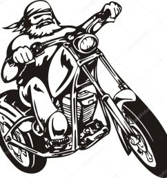 biker on motorcycle motorcycle harley tuned chromium vector by digital clipart [ 1023 x 991 Pixel ]