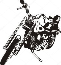 motorcycle harley tuned chromium vector by digital clipart  [ 942 x 1024 Pixel ]