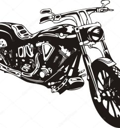 motorcycle harley tuned chromium vector by digital clipart  [ 1023 x 886 Pixel ]