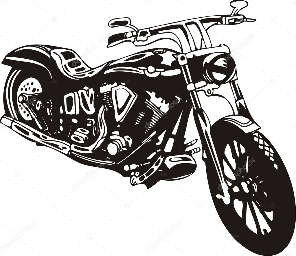 hight resolution of motorcycle harley tuned chromium vector by digital clipart